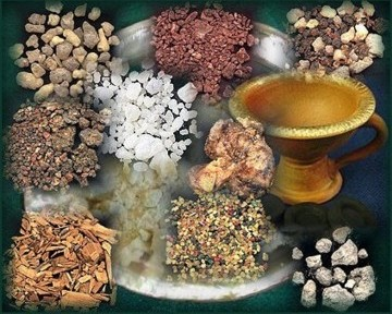 A selection of resin incense
